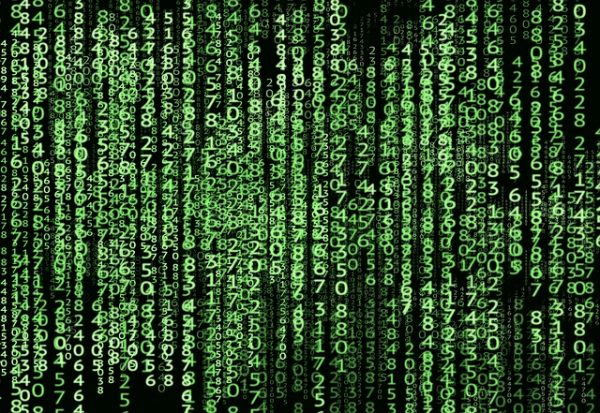 Matrix style screen showing various numbers