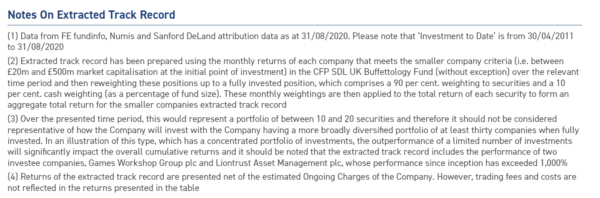 BSC notes on extracted returns